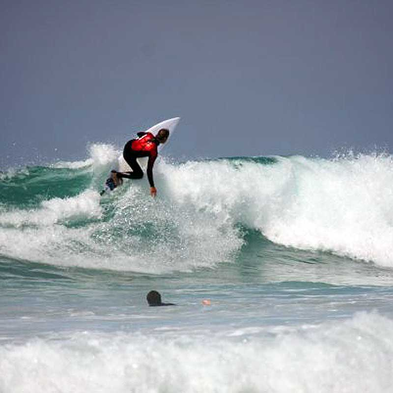 Baz surfing fistral beach newquay cornwall